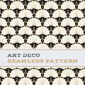 Art Deco Seamless Pattern  Black White And Gold Colours 04 Royalty Free Stock Photos - 85364278