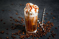 Cold Coffee Drink Frappe Frappuccino Royalty Free Stock Photo - 85369895