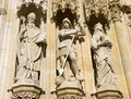 Three Statues On The Facade Royalty Free Stock Photo - 8540875