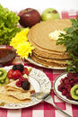 Pancake With Berries Royalty Free Stock Photography - 8546137