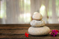 Spa Still Life With Flowers, Zen Stone And Essential Oil Stock Image - 85408301