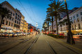 Long Exposure Of A Street Car In New Orleans, Louisiana Royalty Free Stock Photo - 85409575