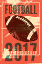 American Football Typographical Vintage Grunge Style Poster. Retro Vector Illustration. Royalty Free Stock Photography - 85440347
