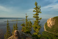 View Of The Great River With The High Rocky Shore. Royalty Free Stock Photos - 85441998