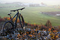 Mountain-bycicle With Beautiful Landscape Image Stock Photos - 85442643