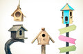Wooden Bird Houses Royalty Free Stock Images - 85453529