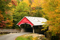 Covered Breidgte And Fall Foliage Stock Image - 85456341