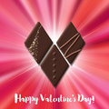 Valentines Day Card With Chocolate Sweet Candy Heart Royalty Free Stock Photo - 85460335