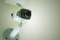 CCTV Or Security Camera Installed On White Ceiling Royalty Free Stock Images - 85468669