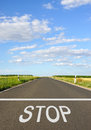 Stop - Road With Text Royalty Free Stock Photography - 85485147