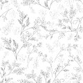 Floral Ornament In The Style Of The Sketch Lines Stock Image - 85492201