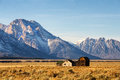 Barn In The Grand Teton National Park, Wyoming Stock Images - 85493844