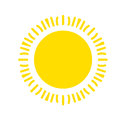 Yellow Sun Icon Isolated On White Background. Flat Sunlight, Sign. Vector Summer Symbol For Website Design, Web Royalty Free Stock Photo - 85498855