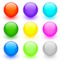 Set Of Round Buttons Stock Photography - 8557862