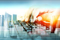 Hands On  Keyboard, Concept Data Entry Stock Image - 85518051