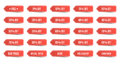Isolated Shopping Tags Set. Red Discount Labels. Stock Images - 85537044