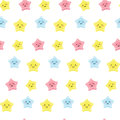 Cute Kawaii Stars. Background For Kids, Babies And Children Design With Smiling Sky Characters Stock Photo - 85564620