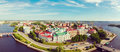 Panoramic Views From Height Of Vyborg Fortress Royalty Free Stock Photography - 85570597