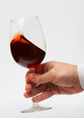 Man Hand With Red Wine Glass Stock Photos - 85578943