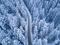 Top View Of Winter Forest And Road Royalty Free Stock Image - 85579726