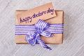 Happy Doctor`s Day Present Box. Stock Photo - 85583070