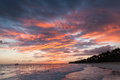 Colorful Cloudscape, Caribbean Sunrise Stock Image - 85599051