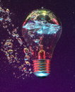 Light Bulb Under Water Stock Image - 8563351