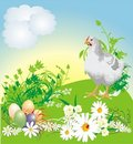 Easter. Spring Composition For Card Royalty Free Stock Photos - 8564548