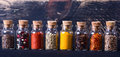 Spices In Bottles Royalty Free Stock Photo - 85617825