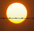 Barbed Wire Royalty Free Stock Photography - 85618087