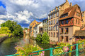 The Ill River In Petite France Area In Strasbourg Stock Photography - 85622342