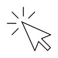 Arrow Pointer Isolated Icon Stock Photography - 85629172