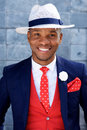 Handsome Young African Man In Suit And Hat Royalty Free Stock Photos - 85644058