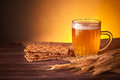 Mug Of Beer And Wheat Ears Royalty Free Stock Photography - 85644747