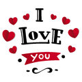 I Love You. Beautiful Lettering Text Royalty Free Stock Photo - 85645745