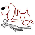 Cat And Dog Grooming Logo Royalty Free Stock Photo - 85671055