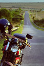 Motorbike On The Way In Summer Adventure Trip Royalty Free Stock Photos - 85672228