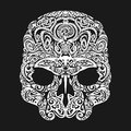 Skull Tattoo In The Style Of Maori With Marine Life. Sea Creatures Royalty Free Stock Photos - 85699088