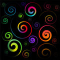 Colorful Spirals Royalty Free Stock Photo - 8575905