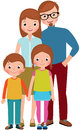 Family Portrait Of Parents And Their Children, Son And Daughter Royalty Free Stock Photography - 85703507