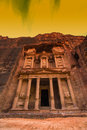 Ancient Abandoned Rock City Of Petra In Jordan Royalty Free Stock Images - 85715969