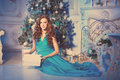 Christmans Party, Winter Holidays Woman With Gift Box. New Year Royalty Free Stock Images - 85721279