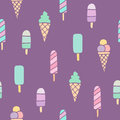 Ice Cream Seamless Pattern. Stock Photography - 85739882