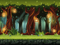 Vector Cartoon Illustration Of The Fairy Forest Stock Images - 85743284