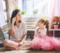 Funny Family Playing At Home Royalty Free Stock Images - 85748599