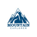 Mountain Explorer Expedition Sport Vector Icon Royalty Free Stock Image - 85750156
