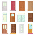 Modern Old Doors Icons Set House Flat Design Isolated Vector Illustration Royalty Free Stock Image - 85766596