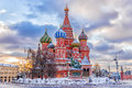 Winter View Of The St. Basil`s Cathedral In Moscow Royalty Free Stock Images - 85768249