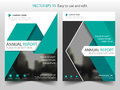Green Triangle Vector Brochure Annual Report Leaflet Flyer Template Design, Book Cover Layout Design, Abstract Presentation Stock Photo - 85778490