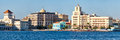 Panoramic View Of Old Havana In Cuba With Several Seaside Colorful Buildings And Landmarks Stock Photography - 85782232